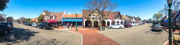 Città danese di Solvang in Santa Ynes, California U.S.A. Primavera 2015 Immagini Stock Libere da Diritti