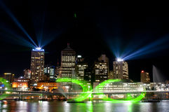 Città degli indicatori luminosi, Brisbane, Australia Fotografie Stock