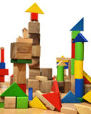 Città dei cubi di legno Immagini Stock Libere da Diritti