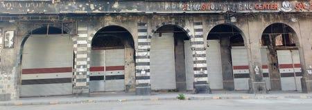Città dei homs dopo la guerra immagini stock libere da diritti