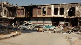 Città dei homs dopo la guerra fotografia stock libera da diritti
