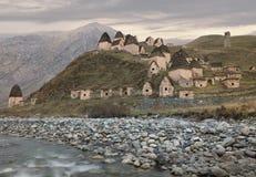 Città dei morti in Ossetia-Alania del nord Caucaso, Russia Fotografia Stock Libera da Diritti