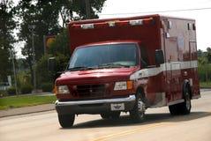 Città del ambulanc del corpo dei vigili del fuoco di Romulus Michigan fotografie stock libere da diritti