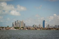 Città del Brasile - Recife, la capitale dello stato del Pernambuco fotografie stock libere da diritti