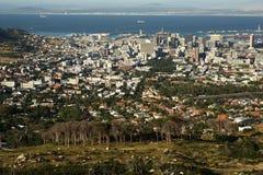 Città del Capo CBD - vista aerea Fotografie Stock