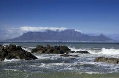 Città del Capo - montagna della Tabella - la Sudafrica fotografie stock libere da diritti