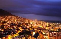 Città del Capo nella notte Immagini Stock