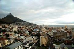 Città del Capo nuvolosa Fotografia Stock