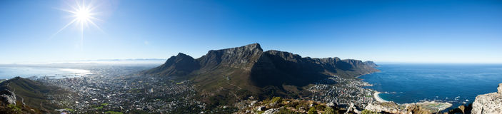 Città del Capo panoramica dalla testa di Lion´s Fotografia Stock
