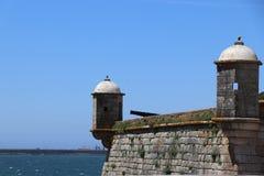 Città del castello del posto di guardia immagine stock libera da diritti