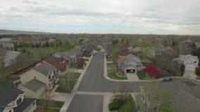 Città del centro della mosca del fuco dal cielo video d archivio