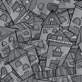 Città del disegno di fiaba di vettore del fumetto Fotografia Stock Libera da Diritti