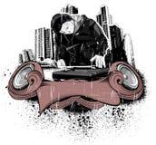 Città del DJ Fotografie Stock