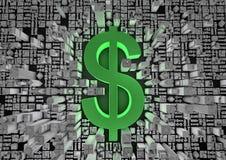 Città del dollaro Immagine Stock