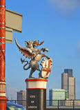 Città del drago di Londra Immagine Stock
