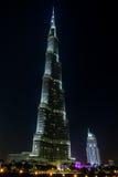 Città del Dubai e Burj Khalifa Immagini Stock Libere da Diritti