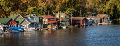 Città del fiume Fotografia Stock Libera da Diritti
