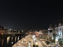 Città del fiume di notte di estate di Mosca fotografia stock libera da diritti