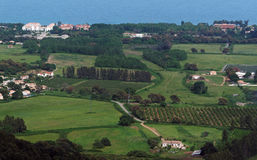 Città del flocculo di Moriani in Corsica Immagine Stock