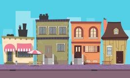 Città del fondo del gioco Immagini Stock Libere da Diritti