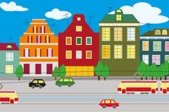 Città del fumetto della via Fotografia Stock Libera da Diritti