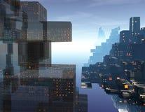 Città del futuro Fotografia Stock Libera da Diritti