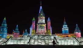 Città del ghiaccio di Harbin Fotografia Stock