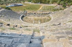 Città del greco antico di Mileto in Didim, Aydin, Turchia Immagine Stock
