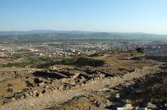 Città del greco antico di Pergamon immagine stock