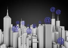 Città del Internet Immagini Stock