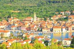Città del laureato di Stari sull'isola Hvar, Croazia Immagini Stock Libere da Diritti