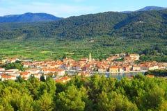 Città del laureato di Stari sull'isola Hvar, Croazia Fotografia Stock Libera da Diritti