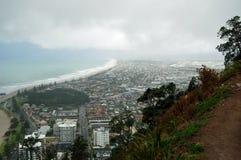 Città del paesaggio della spiaggia, Tauranga, isola del nord, Nuova Zelanda Fotografia Stock Libera da Diritti