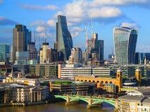 Città del paesaggio di Londra, Londra, paesaggio di Londra, coccio Città di Londra Coccio, Londra Immagini Stock