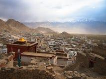 Città del paesaggio del ladakh di Lah, India Immagine Stock