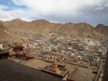 Città del paesaggio del ladakh di Lah, India Immagini Stock