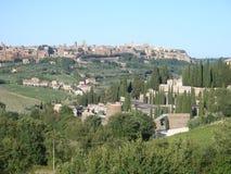Città del pendio di collina di Orvieto in Italia Fotografia Stock