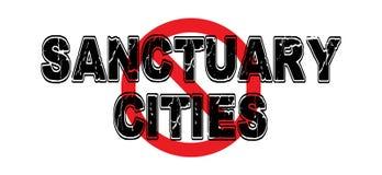 Città del santuario di divieto Immagine Stock Libera da Diritti