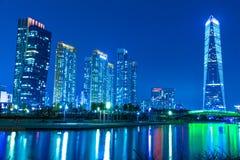 Città del Songdo futuro fotografie stock libere da diritti
