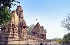 Città del tempio di Khajuraho Fotografia Stock Libera da Diritti