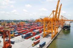 Città del trasporto e di Bangkok del trasporto della barca Fotografia Stock Libera da Diritti