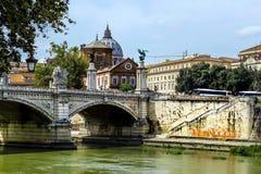 Città del Vaticano da Ponte Umberto I a Roma, Italia Fotografia Stock