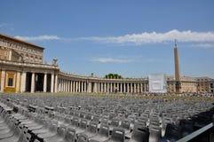Città del Vaticano quadrata di St Peter Immagini Stock