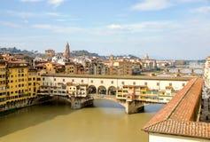 Città del vecchio di Ponte e di Firenze fotografie stock