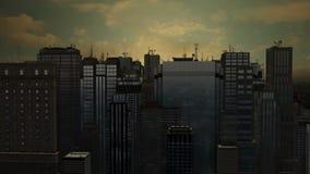 città dell'antenna 3d stock footage