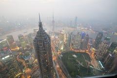 Città dell'Asia di notte fotografia stock
