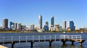 Città dell'Australia della vista panoramica di Perth Fotografie Stock Libere da Diritti