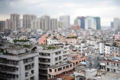 Città dell'incrocio del paese, Shipai, Guangzhou, Cina Fotografia Stock Libera da Diritti