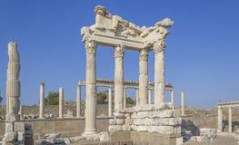 Città dell'oggetto d'antiquariato di Akropolis, Pergamon Fotografia Stock