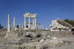 Città dell'oggetto d'antiquariato di Akropolis, Pergamon Fotografie Stock Libere da Diritti